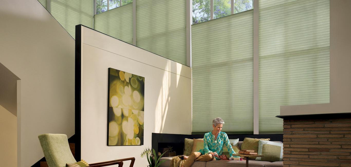 Livings con temperaturas agradables- Cortina Duette HunterDouglas